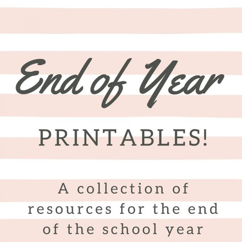 il ascd printable for the end of the school year